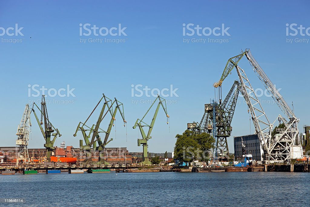 Shipyard royalty-free stock photo