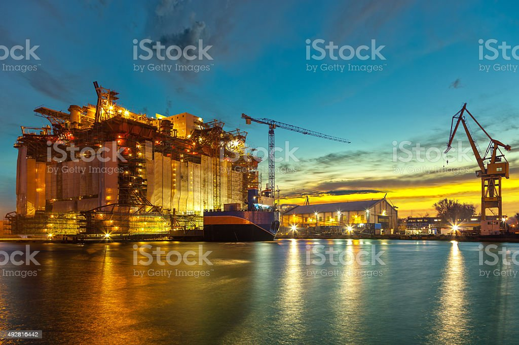 Shipyard stock photo