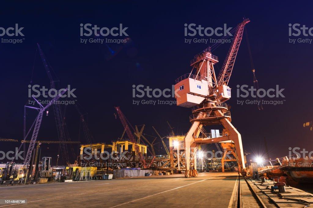Cranes. Transport, freight concept