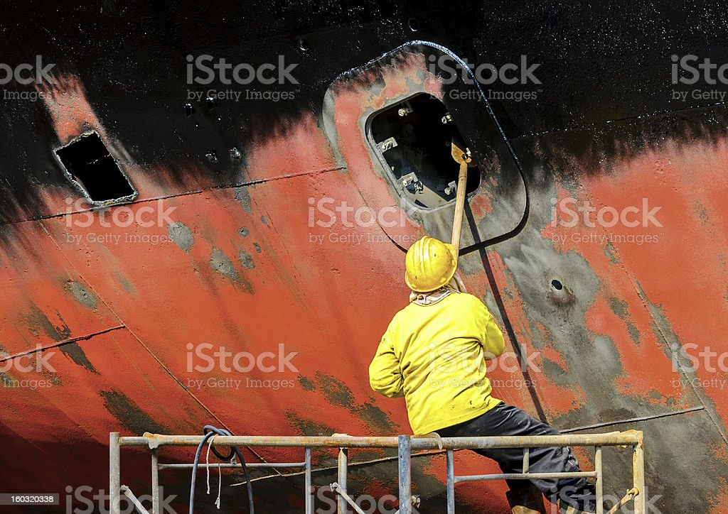 shipyard worker royalty-free stock photo