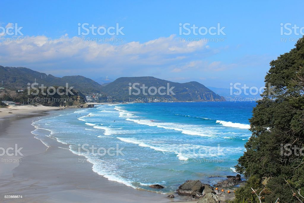 Shirahama Beach of Izu,Shimoda stock photo