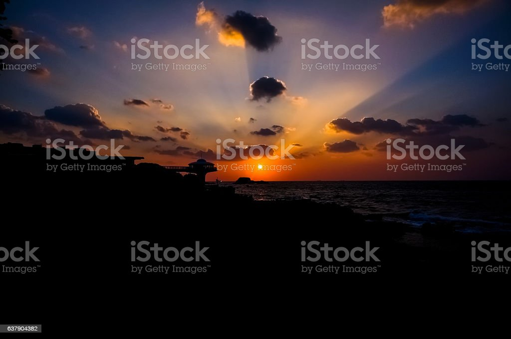 Shirahama Sunset stock photo