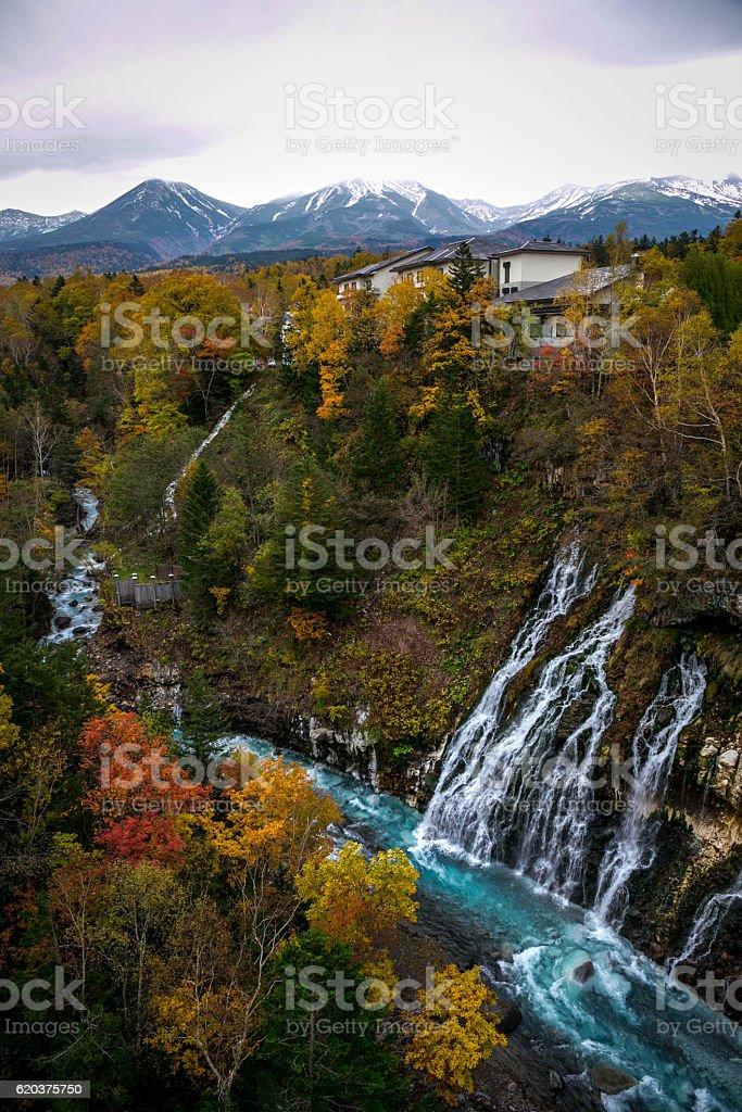 Shirahige Wodospad zbiór zdjęć royalty-free