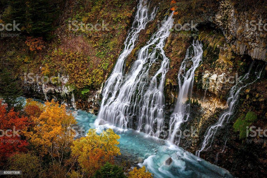 Shirahige cascata foto de stock royalty-free