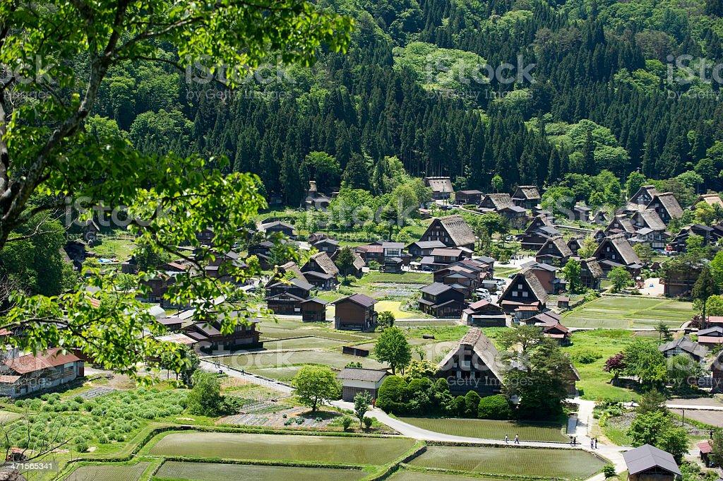 Shirakawa-go royalty-free stock photo