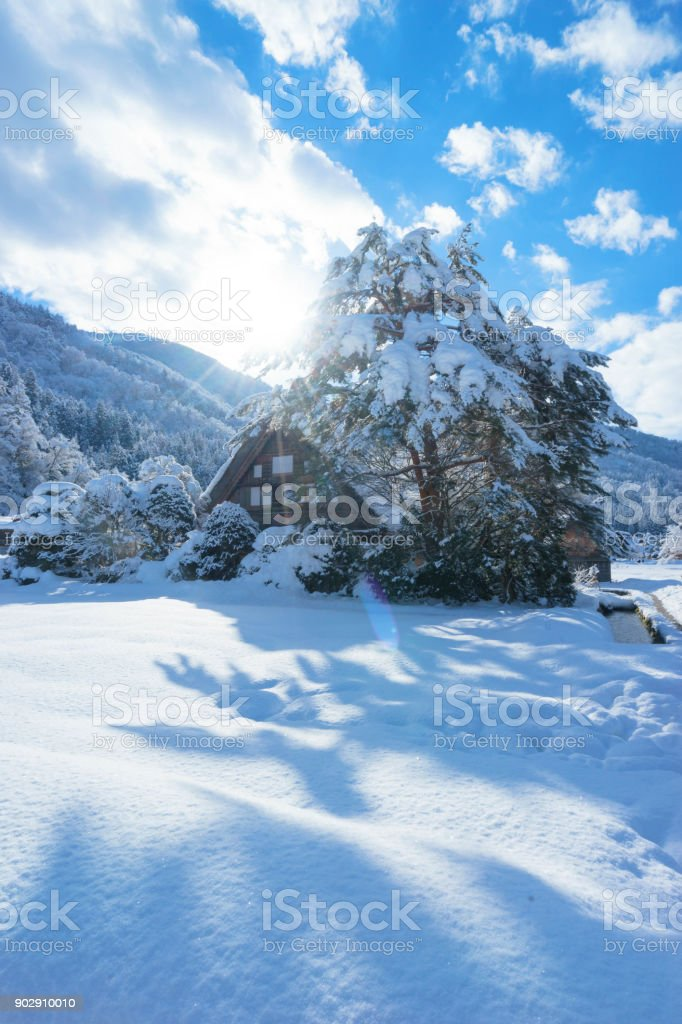 shirakawago stock photo
