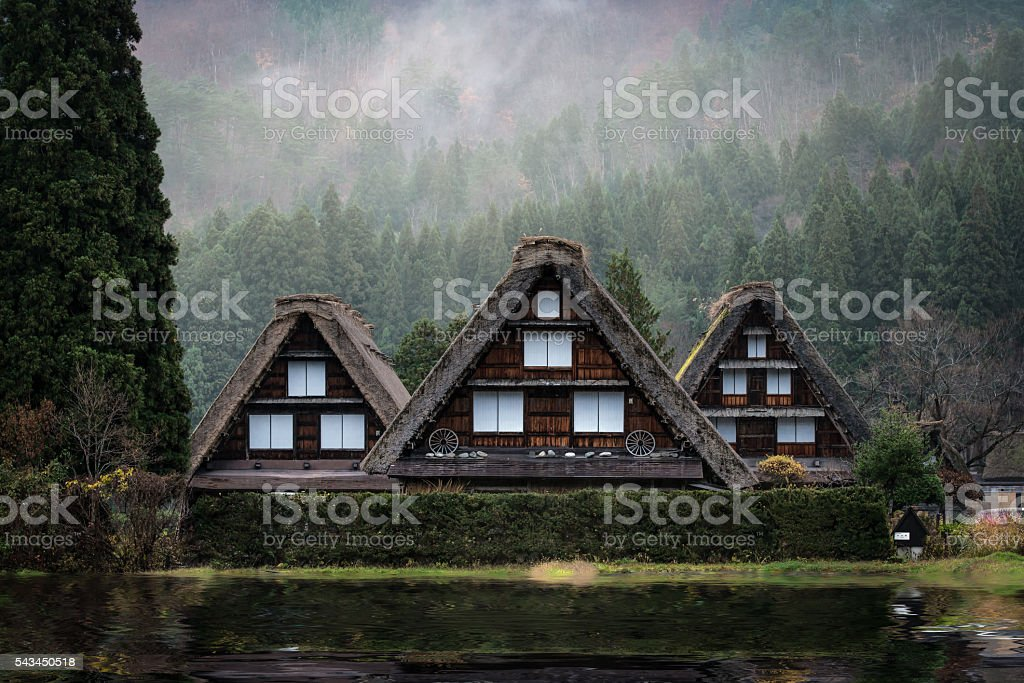 Shirakawago Village, Japan stock photo