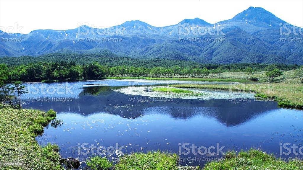 Shiretoko of the world natural heritage stock photo