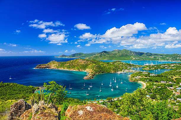 shirley heights antigua - caribbean stock pictures, royalty-free photos & images