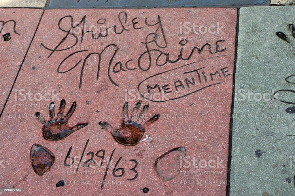 Shirley MacLaine Walk of Fame stock photo