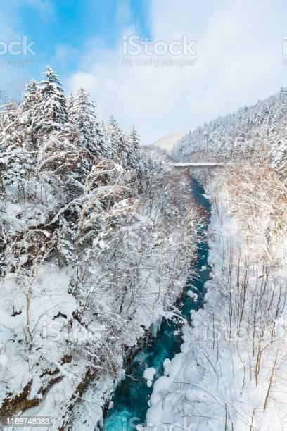 Shirogane waterfall in winter at biei patchwork road hokkaido japan picture id1169748083?b=1&k=6&m=1169748083&s=612x612&h=dz693we3eaebqcqoqxfwahiwfb ginj2bdo4atavxuo=