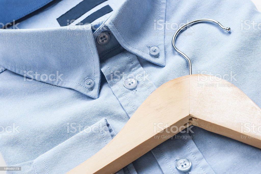 Shirt and cloth hanger stock photo