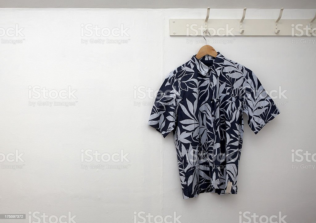 Shirt hanging on the wall royalty-free stock photo