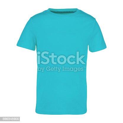 Shirt Isolated On White Stock-Fotografie und mehr Bilder von Blau