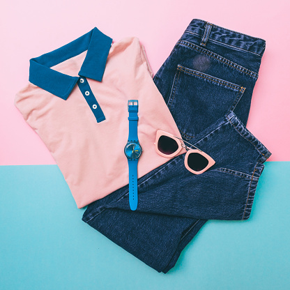 640200626 istock photo shirt, jeans and accessories 640200690