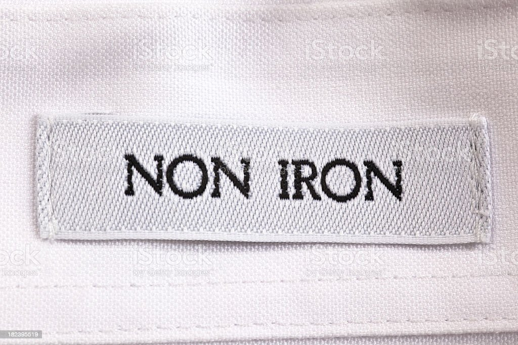 Shirt Label stock photo