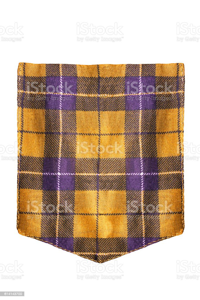 Shirt pocket isolated - foto de stock