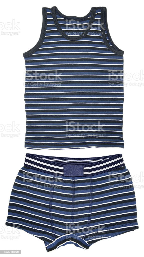 Shirt sleeveless and short underwear stock photo