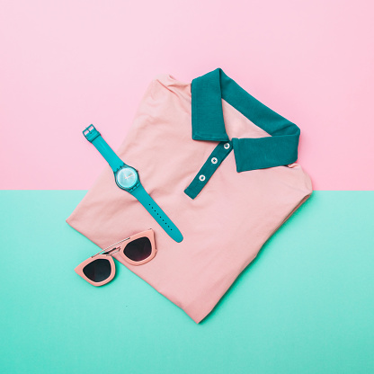 640200626 istock photo shirt, sunglasses and mint watches 640200626
