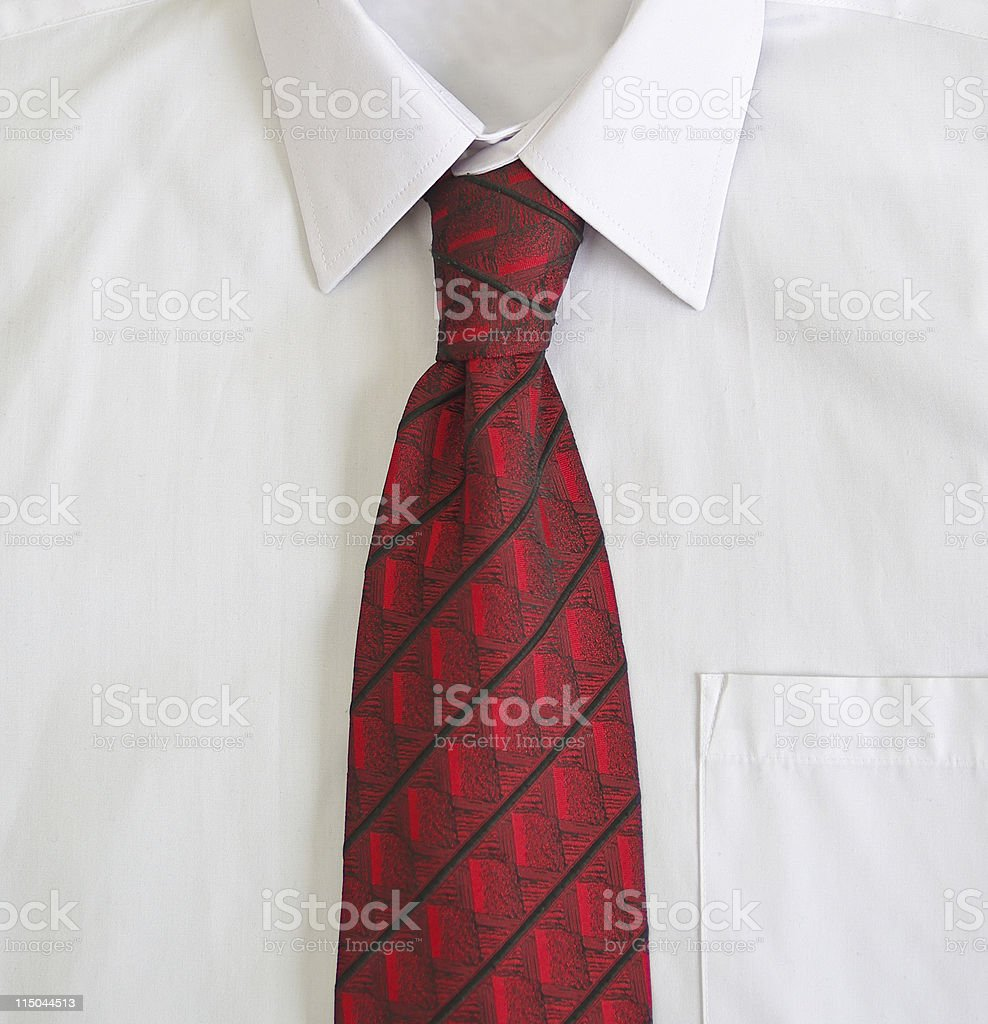 Shirt wit tie stock photo