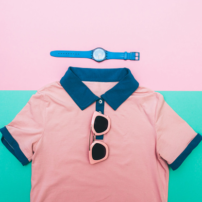 640200626 istock photo shirt with watches and glasses. 640200434