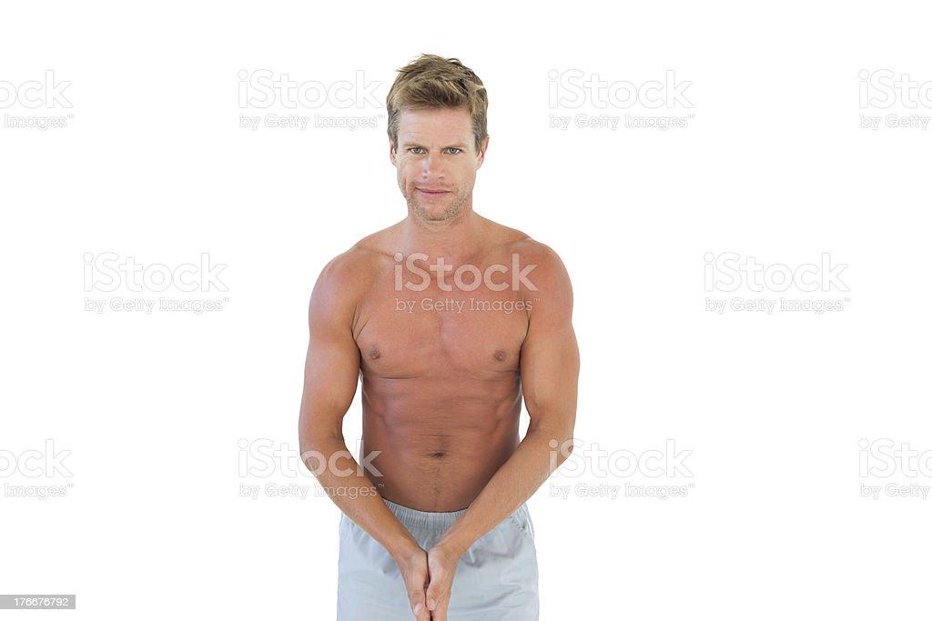 Shirtless attractive man royalty-free stock photo