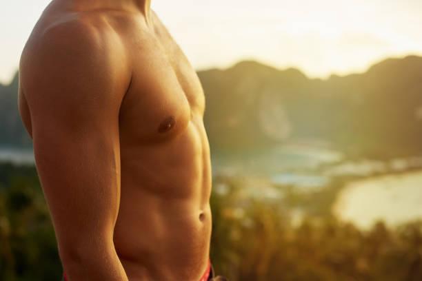 a torso a camicia è l'unico modo per andare - a petto nudo foto e immagini stock