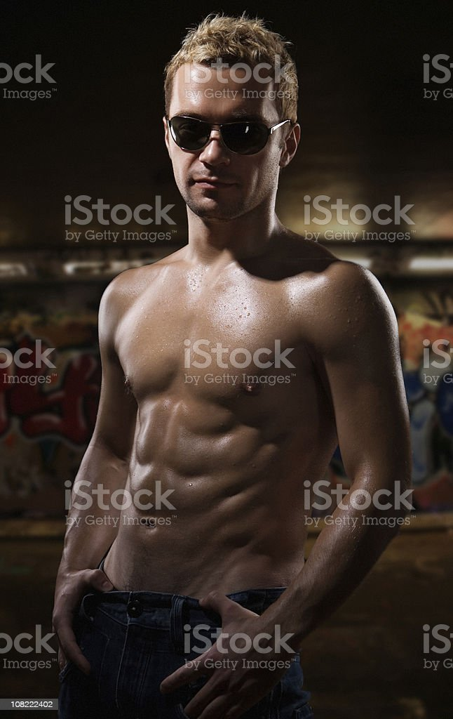 Shirtless Man royalty-free stock photo