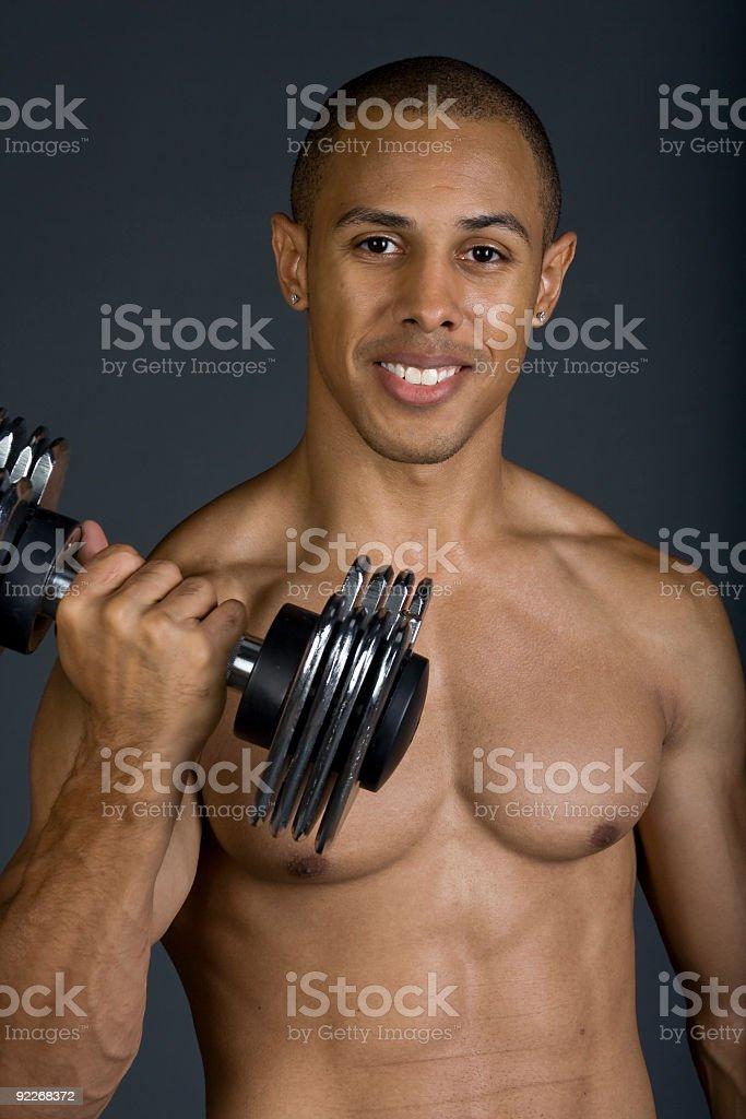 Shirtless Workout Man stock photo