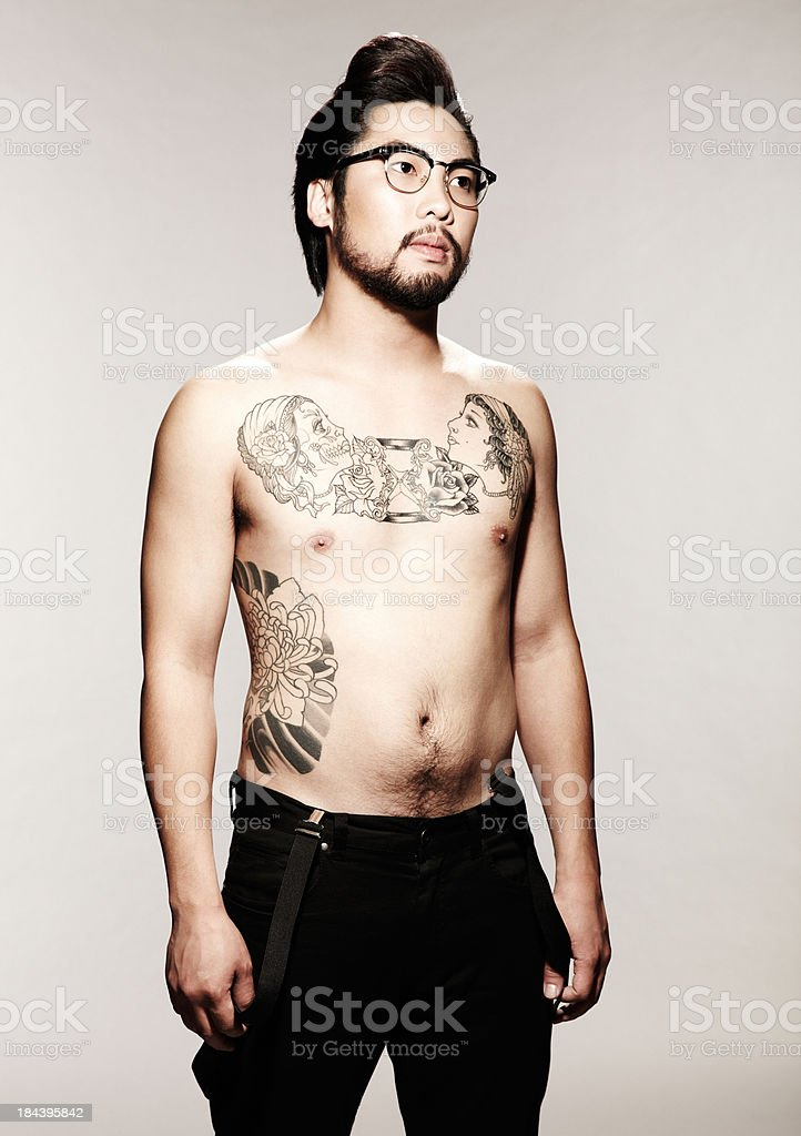 asian guys with tattoos