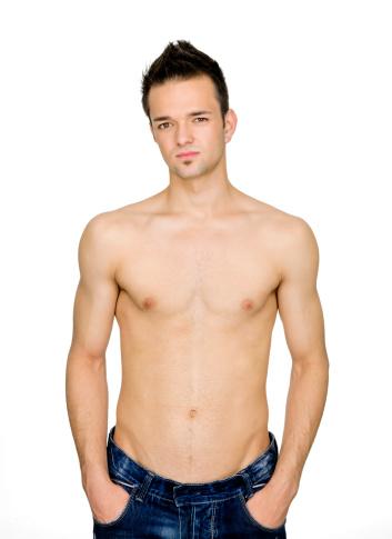 Nackter Oberkörper Junger Mann Stockfoto und mehr Bilder