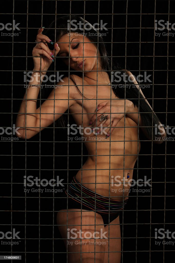 Shirtless Young Women royalty-free stock photo