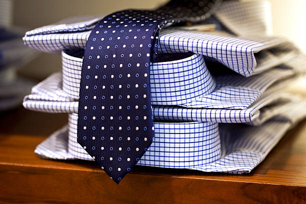 shirts and tie - menswear stock photos and pictures