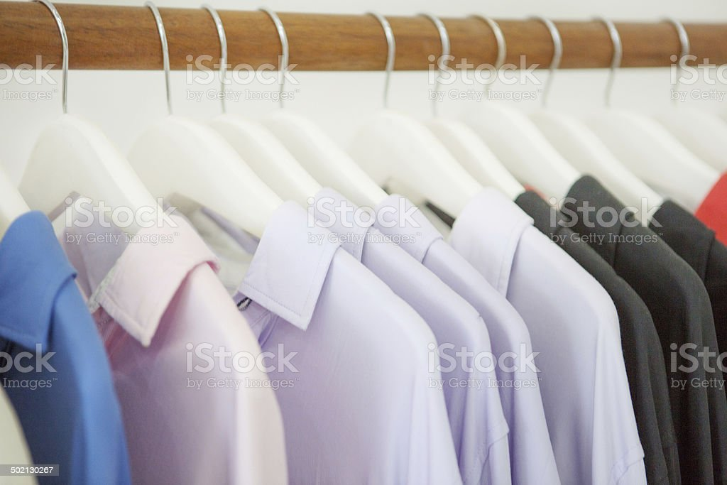 Shirts collection stock photo