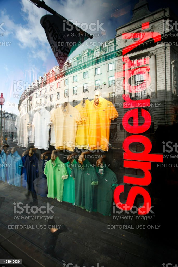 newest ba117 445b3 T Shirts In Superdry Shop Window Stock Photo - Download ...