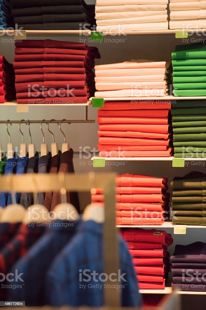 Shirts of different colors stock photo
