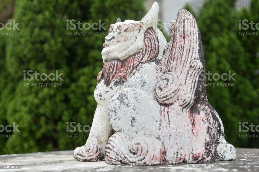 Shisa sculpture stock photo