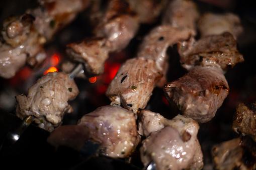 Shish kebab grilled