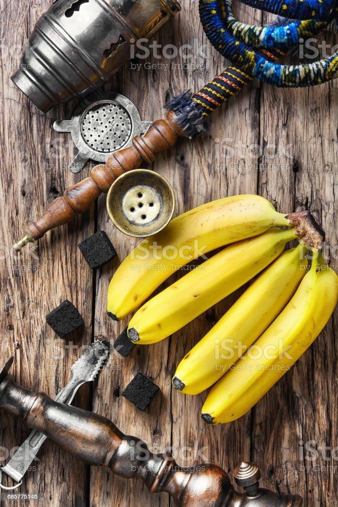Shisha hookah with banana tobacco flavor royalty-free stock photo