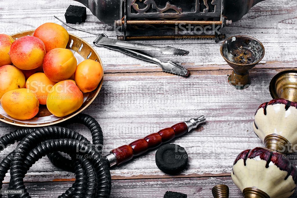 Shisha with fruity aroma stock photo