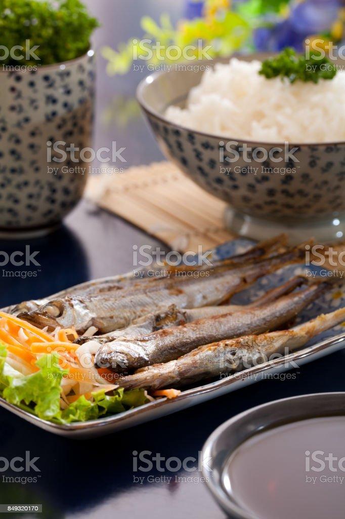 Shishamo stock photo