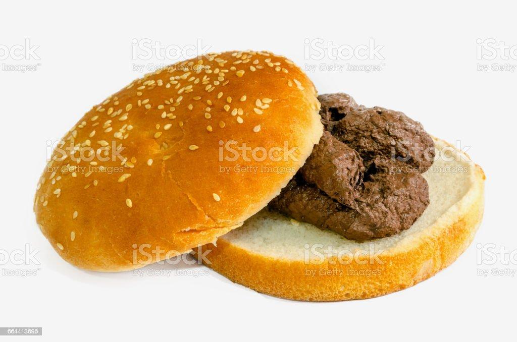 Shit burger stock photo