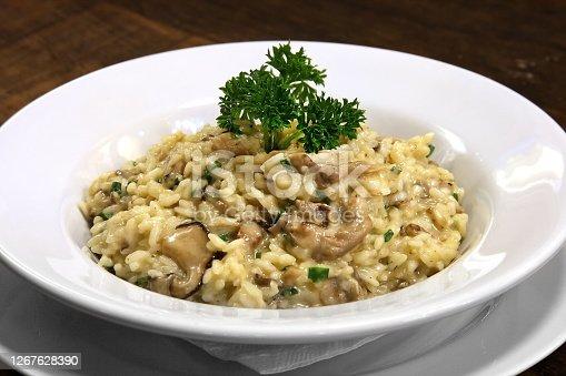 shitake and cheese risotto