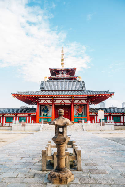 Shitennoji Temple traditional architecture in Osaka, Japan Osaka, Japan - September 30, 2018 : Shitennoji Temple traditional architecture shinto stock pictures, royalty-free photos & images
