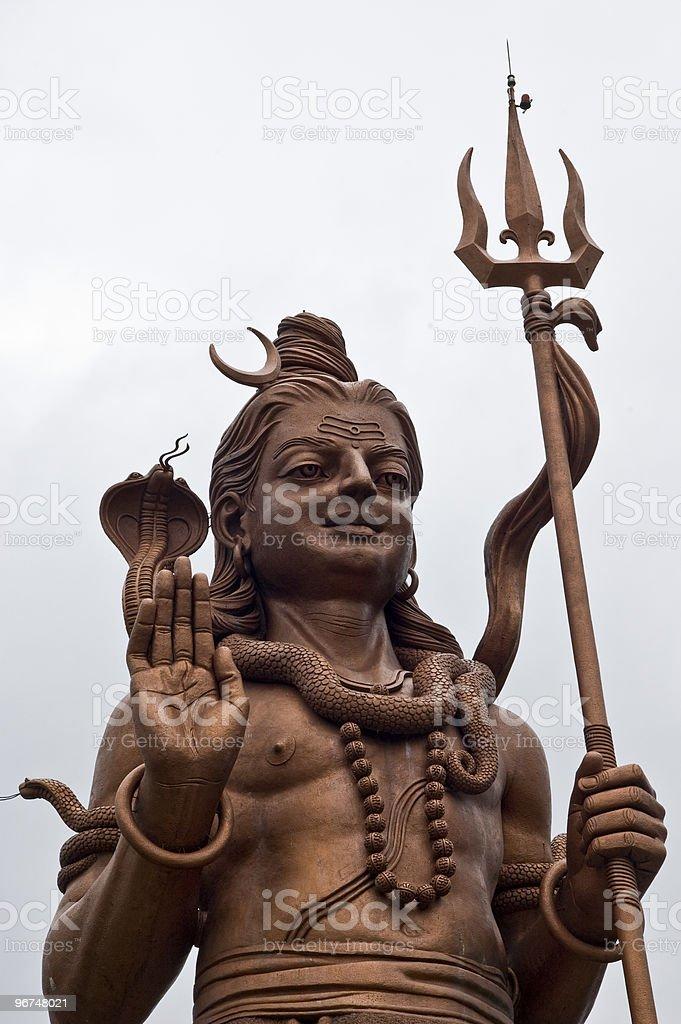 Shiva Bronze Statue Mauritius royalty-free stock photo