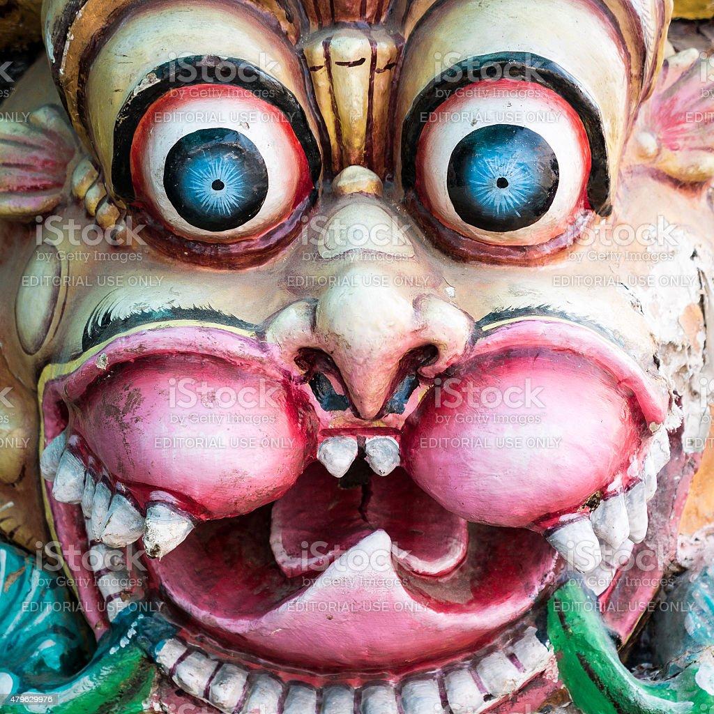Shiva ceremonial mask stock photo