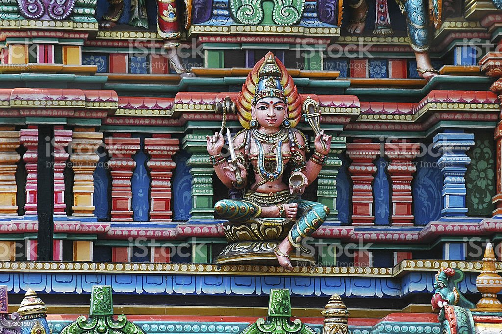 Shiva. Element of Hindu temple. royalty-free stock photo