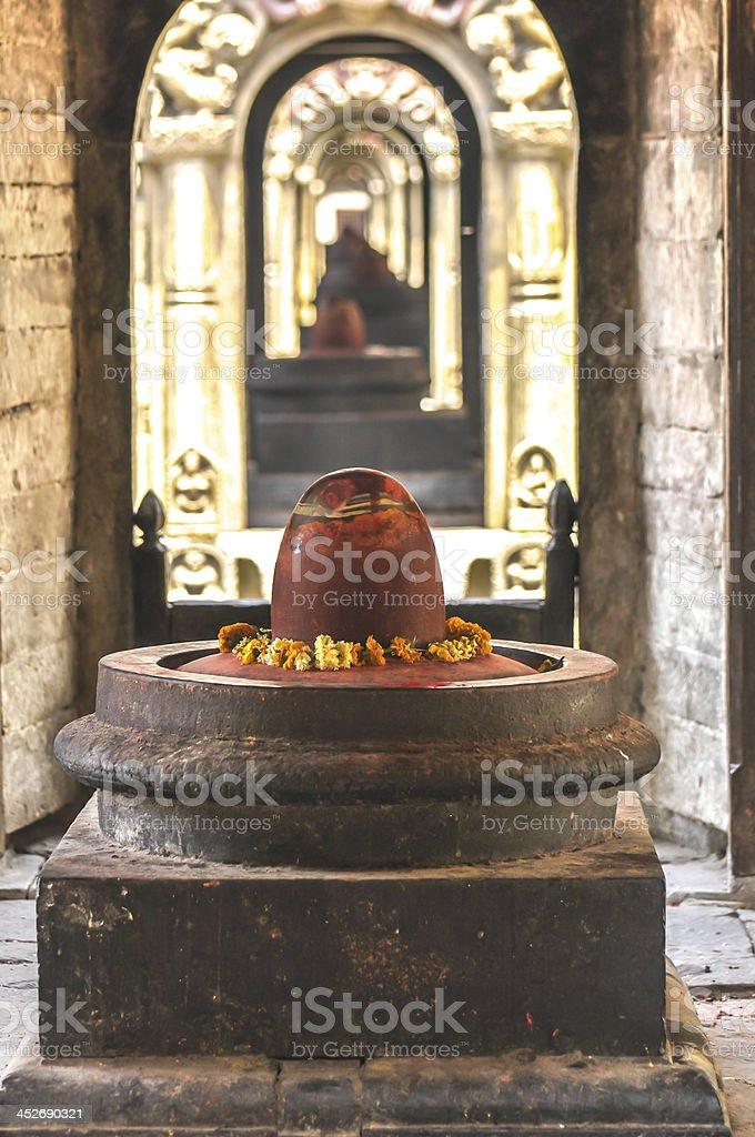 Shiva lingam Kathmandu stock photo