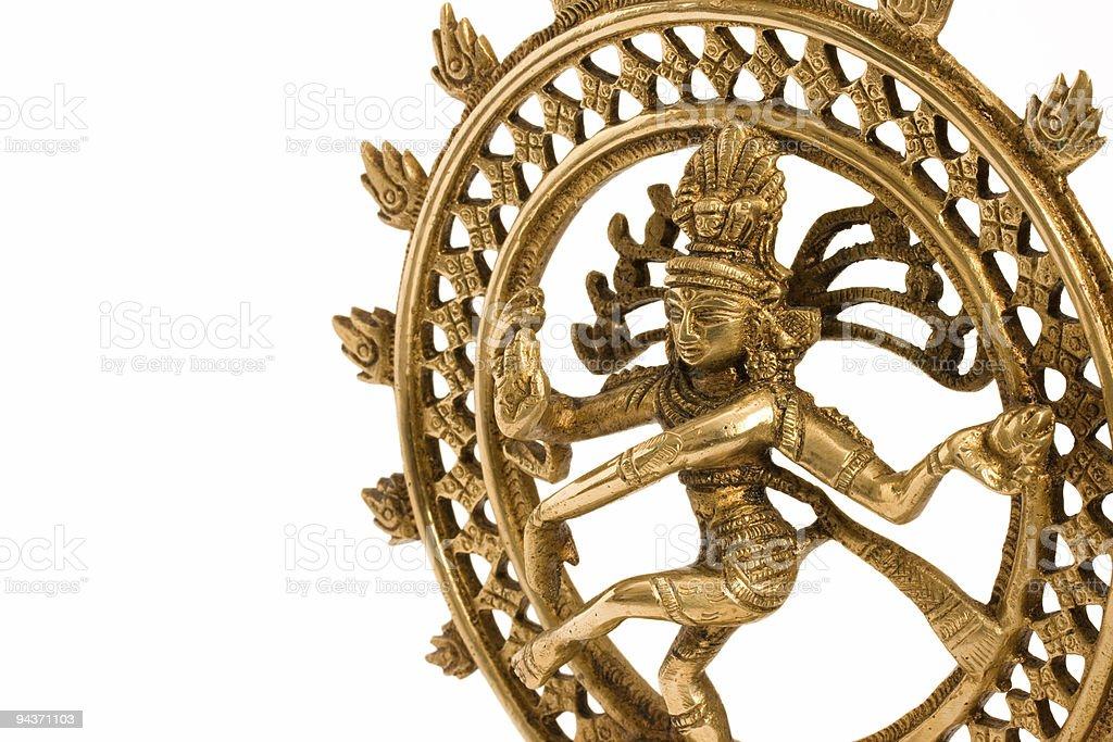 Shiva Nataraja - Lord of Dance close up stock photo