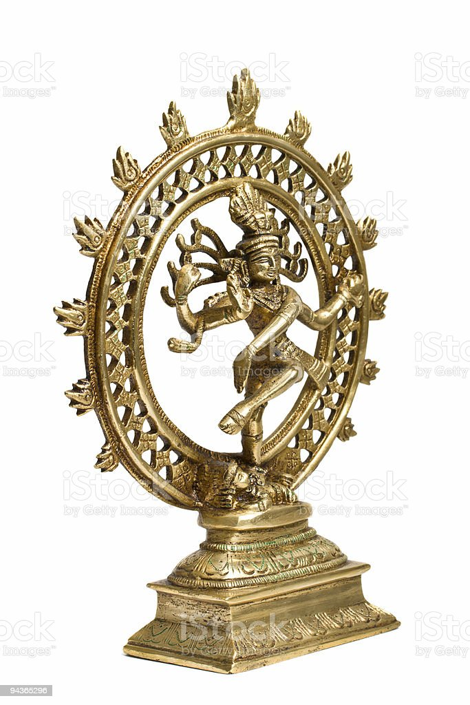 Shiva Nataraja Statue - Lord of Dance isolated royalty-free stock photo